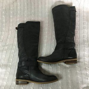 Lucky Brand Grey Leather Riding Boots Size 9